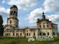 В Вельском районе ведутся работы по реконструкции храма 1806 года постройки
