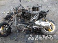 В Няндоме сгорели два скутера