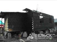 В Няндомском районе сгорела новостройка