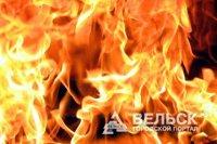 Крупный пожар в Октябрьском