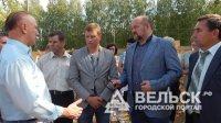 Игорь Орлов посетил стройки Вельского района
