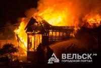 Сегодня ночью горело летнее кафе на окраине Вельска